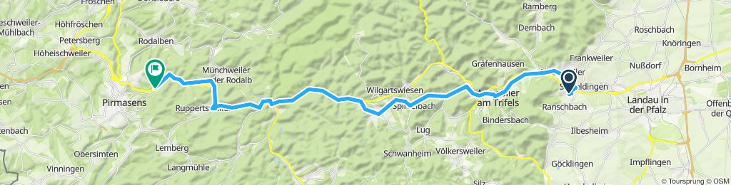 Moderate Route in Pirmasens