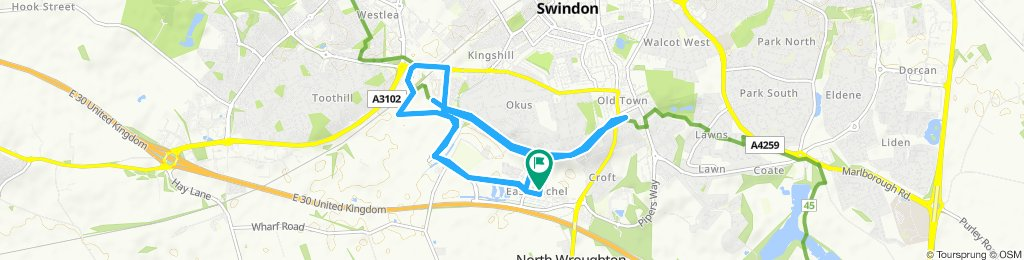 Relaxed route in Swindon
