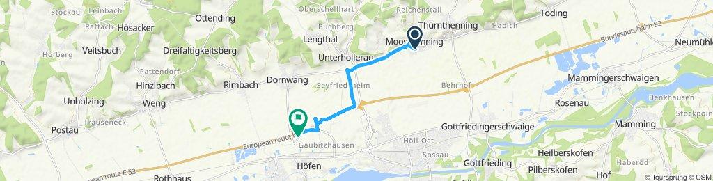 Langsame Fahrt in Dingolfing