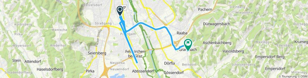 Einfache Fahrt in Graz