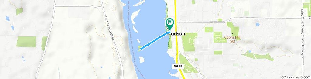 Walking the dike in Hudson 7.17.19