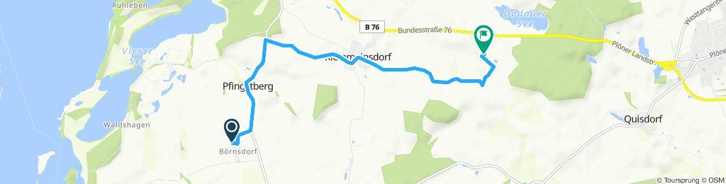 Route im Schneckentempo in Bösdorf
