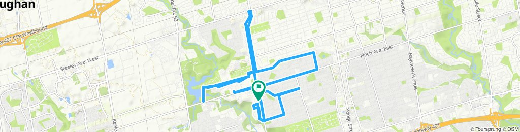 Snail-like route in Toronto
