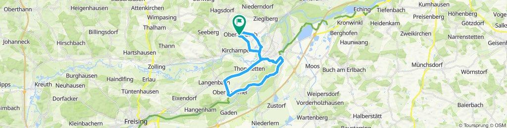 Gerade Fahrt in Moosburg an der Isar