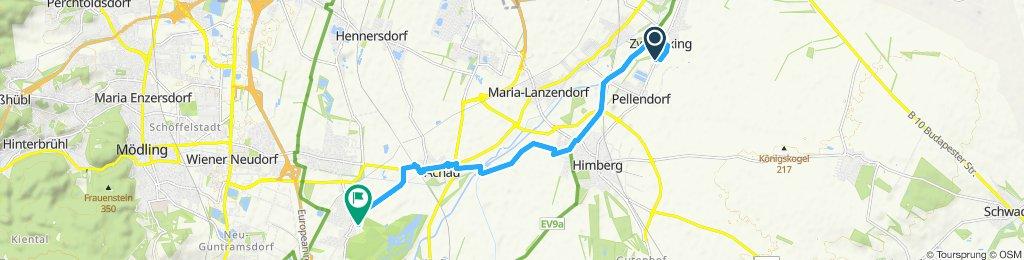 Gerade Fahrt in Laxenburg