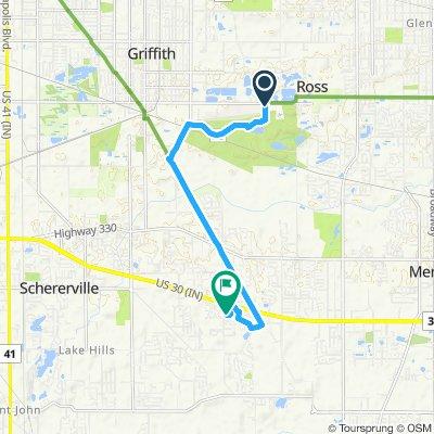 Snail-like route in Schererville