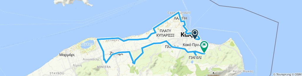Relaxed route in Kos (MTB)