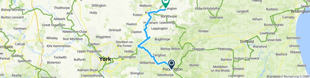 Pockington to Thornethorpe via Stamford Bridge and Kirkham