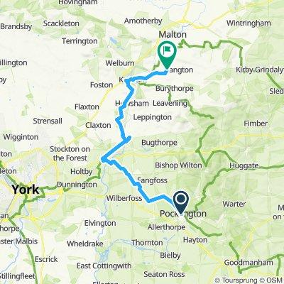Pockington to Thornethorpe via Stamford Bridge and Kirkham