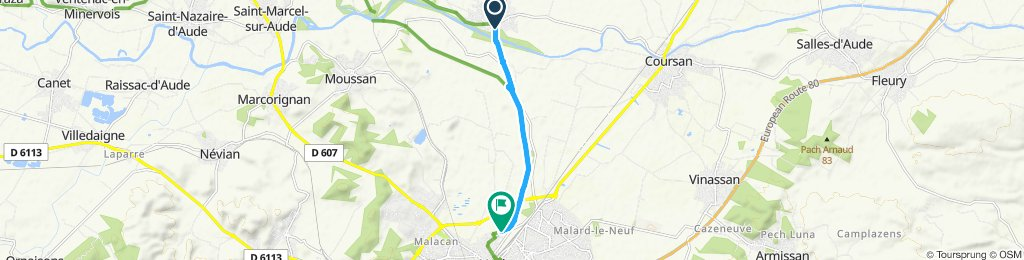 Easy ride in Cuxac-d'Aude