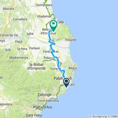 3e etappe KORT Calella (Sant Roc) - Sobrestany (Mas de Llop Blanc) (pakket 5&7, V1)