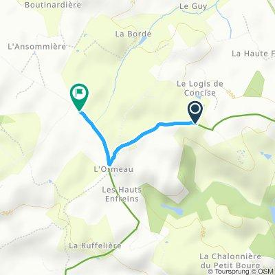 Itinéraire confortable en Chambretaud