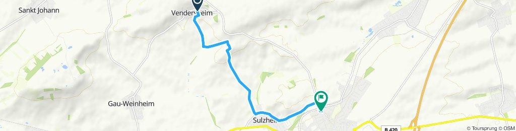 Gemütliche Route in Wörrstadt