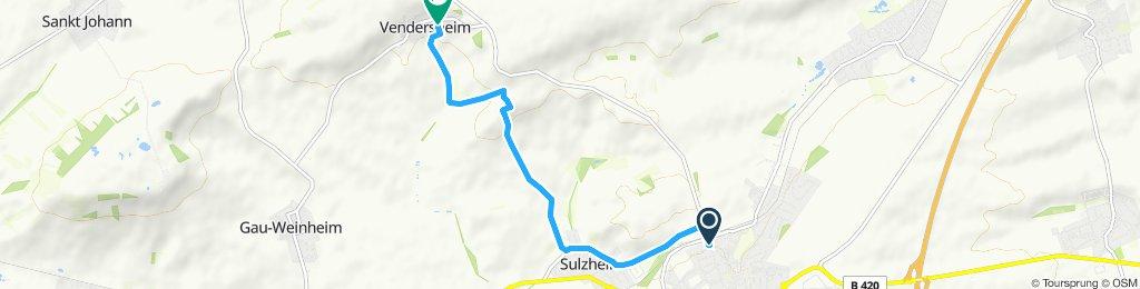 Moderate Route in Vendersheim