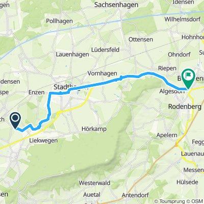Route im Schneckentempo in Bad Nenndorf