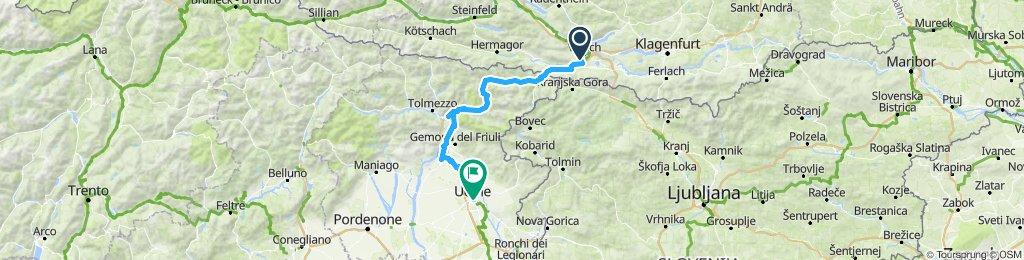 Einfache Fahrt in Udine