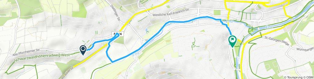 Gerade Fahrt in Pforzheim