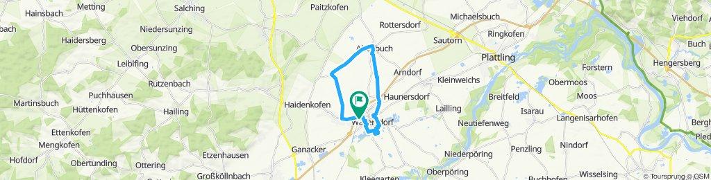 Langsame Fahrt in Wallersdorf