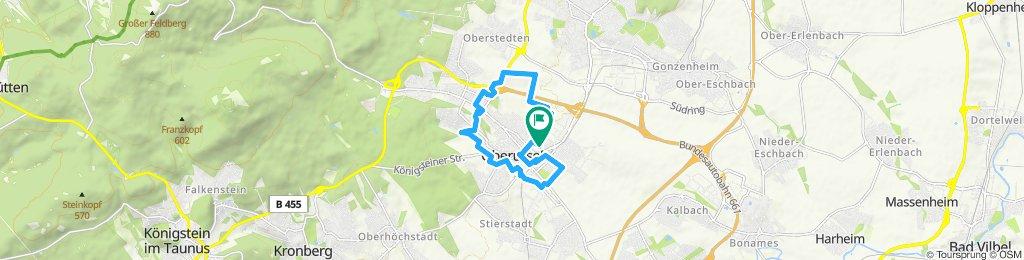 Langsame Fahrt in Oberursel (Taunus)