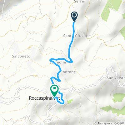 Giro a velocità costante in Roccaspinalveti