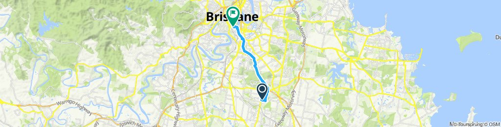 Relaxed route in South Brisbane