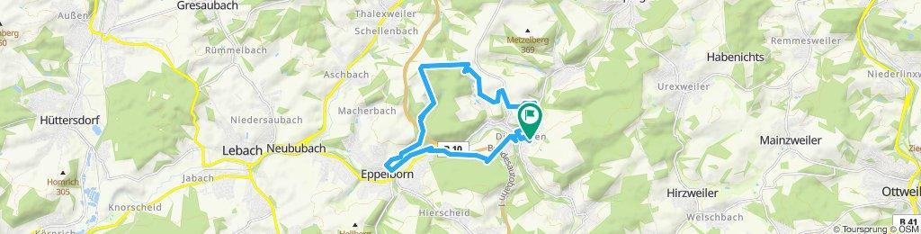 Langsame Fahrt in Eppelborn