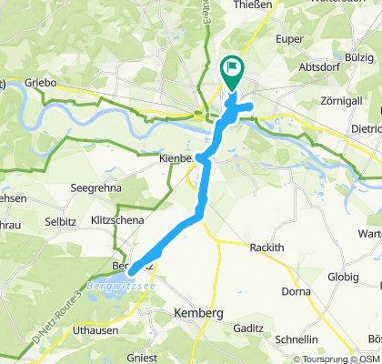 Bergwitzsee und zurück 21.07.19