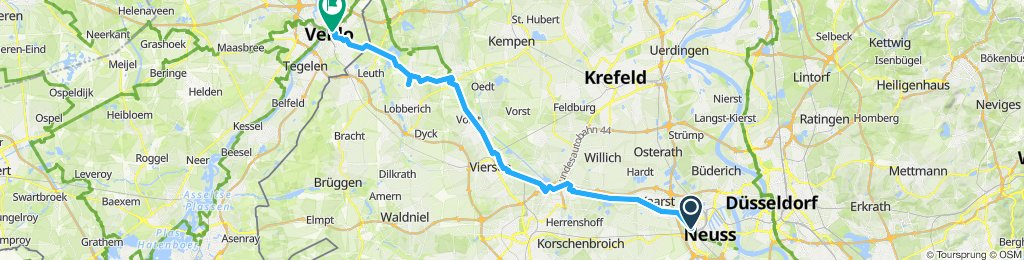 Langsame Fahrt in Venlo