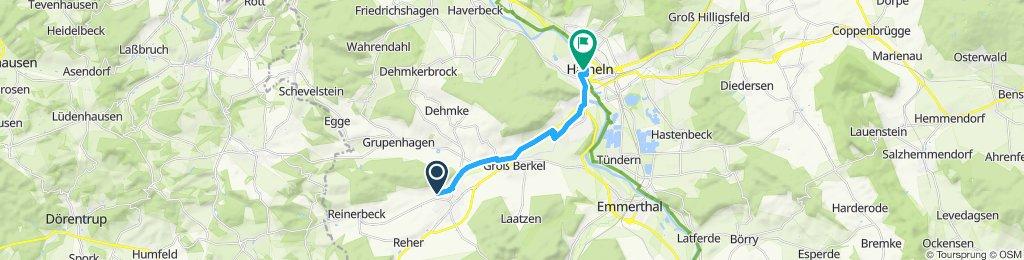 Langsame Fahrt in Hameln