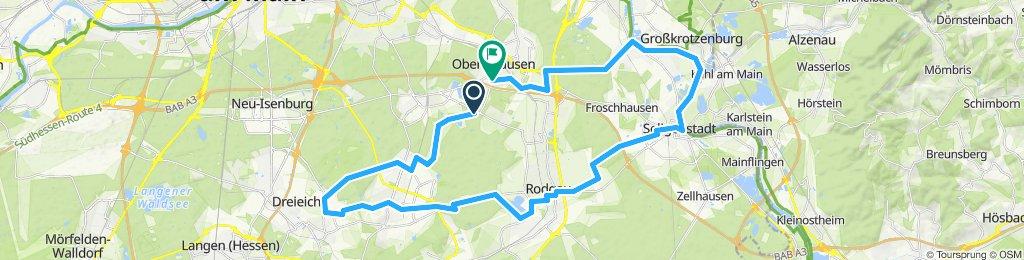 Obertshausen-Dreieich-Seligenstadt und zurück