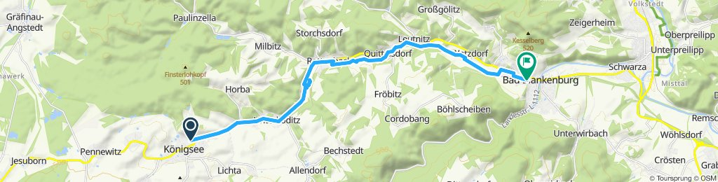 Route im Schneckentempo in Bad Blankenburg