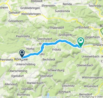 Route im Schneckentempo in Bad Blankenburg