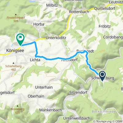 Langsame Fahrt in Königsee-Rottenbach