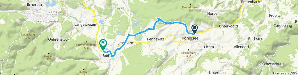 Moderate Route in Gehren