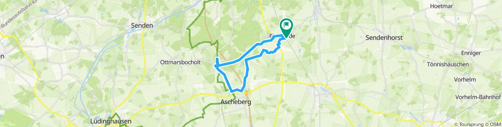 Gerade Fahrt in Drensteinfurt
