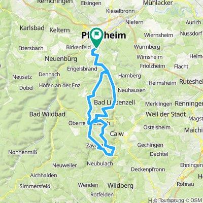 PF - UR - Oberreichenbach - Bad Teinach und irgendwie auch so zurück