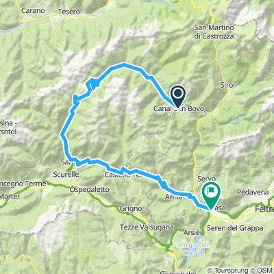 Canal San Bovo-Passo cinque croci-Castello Tesino-Fonzaso
