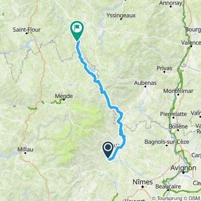 ANduze  St Monistrol par Les Vans -  165 km 2900 m