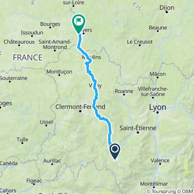 Cussac CUFFY  par AMBERT  - 290  km  1900 m