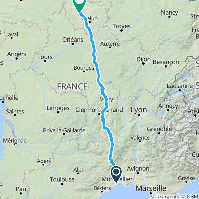 Montpellier Meudon par Florac Monistrol/Allier  - 820 km  -  5200 m