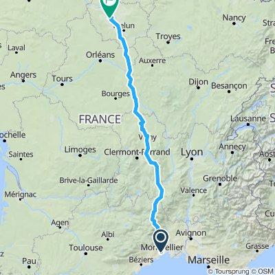 Montpellier Meudon par Florac Cussac - 815 km - 5200 m