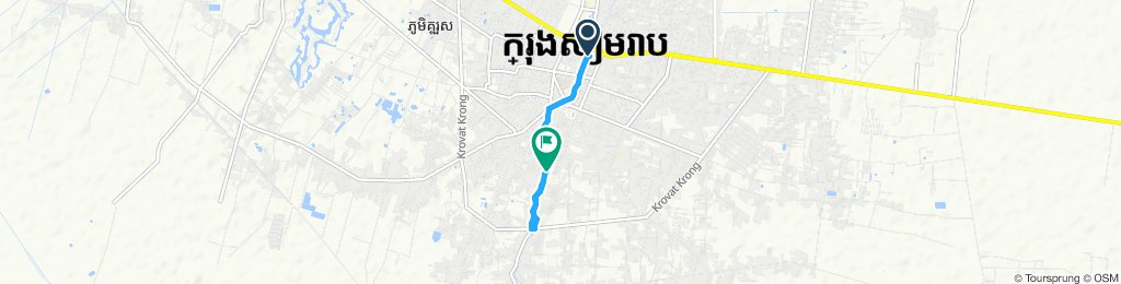 Snail-like route in Siem Reap