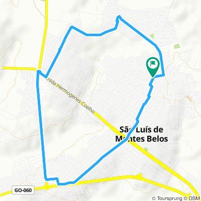 Rota lenta em São Luís de Montes Belos