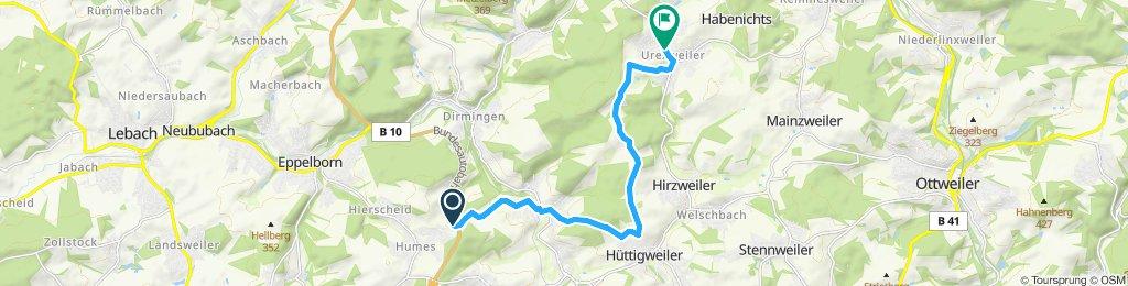 Fahrt nach Urexweiler