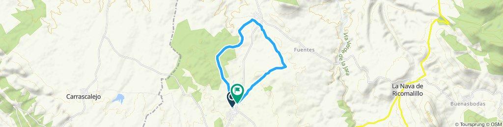 correr, Aldeanovita-la Estrella-camino Fuentes-Aldeanovita