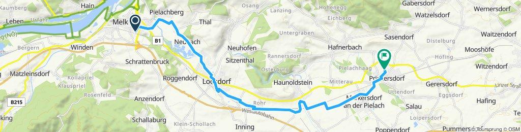 Route im Schneckentempo in Prinzersdorf