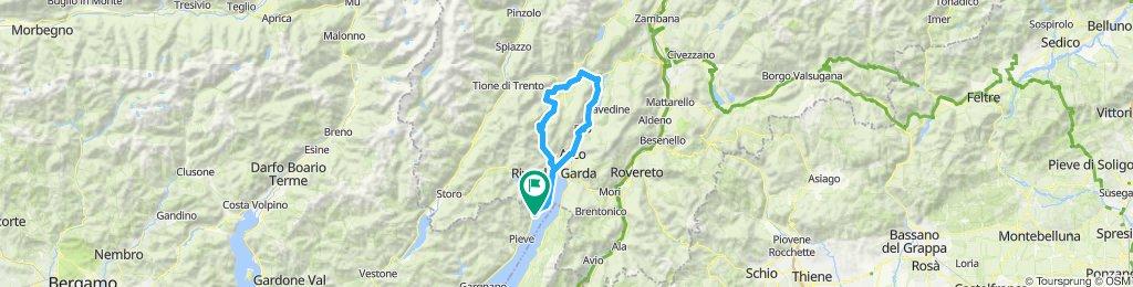 Langsame Fahrt in Limone sul Garda