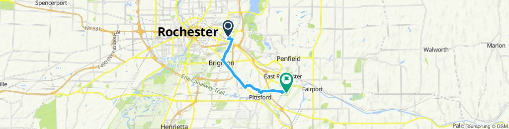 Steady ride in Rochester