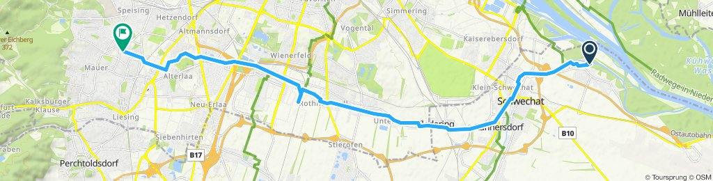Moderate Route in Wien