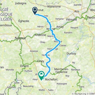 route de Villers sur Lesse par Huy